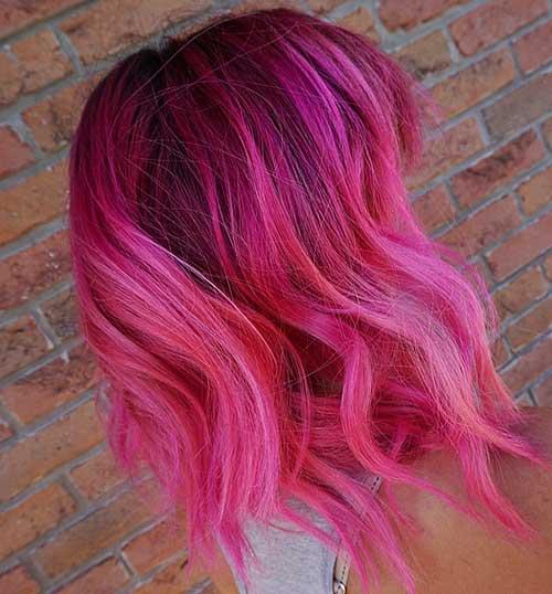 Short Pink Hair - 9