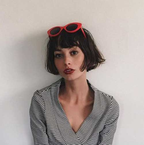 Bangs Style Short Hair