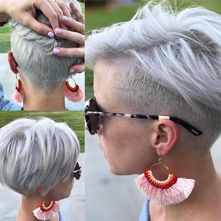 Pixie Undercut Hair, Under, Pixie, Some, Platinum
