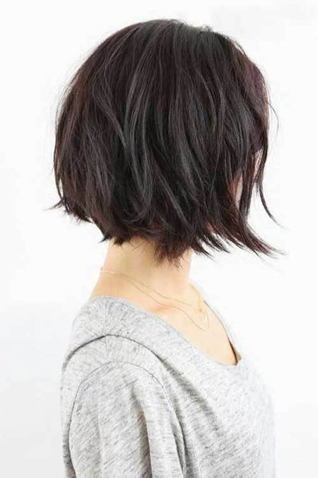 Short Straight Layered Bob Hairstyles Hair, Bob, Side, Choppy
