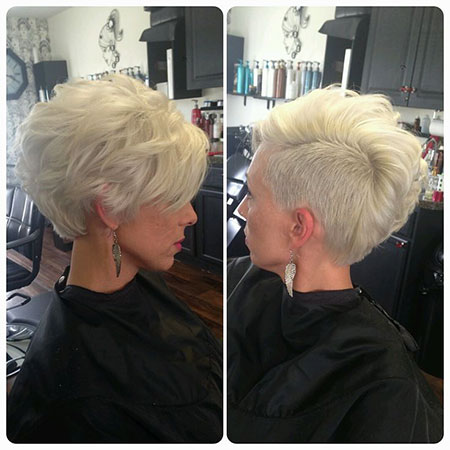 Asymmetrical Hair, Pixie, Shaved, Asymmetrical, Sides