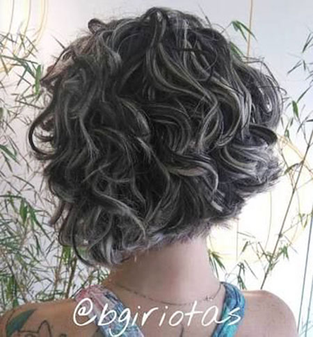Grey Hair, Curly, Bob, Long, Grey