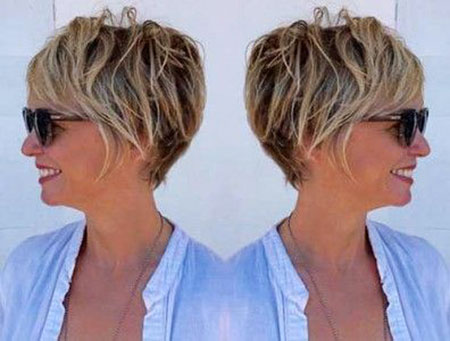 Pixie Cut, Women, Pixie, Over, Older