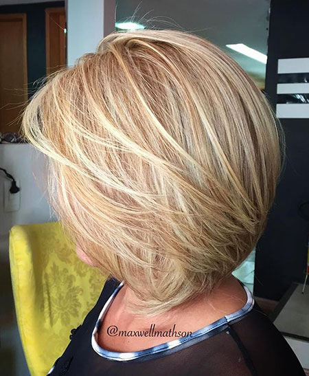 Modern Hair, Bob, Blonde, Women, Layered