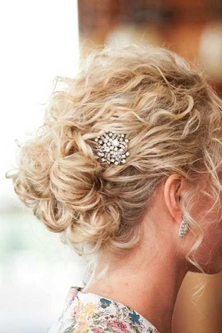 Wedding Hair, Wedding, Curly, One, Natural