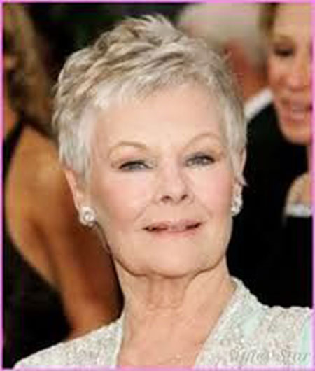 Celebrity Hair, Women, Older, Dench, Pixie