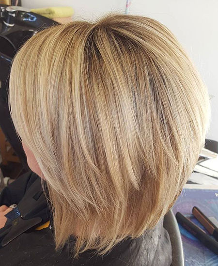 Blonde Balayage, Blonde, Bob, Choppy, Highlights