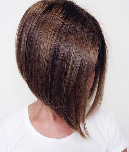 Layered Bob, Bob, Layered, Brown, Highlights