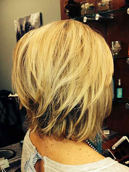 Layered Blonde, Bob, Layered, Bobs, Blonde