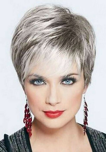 Straight Hair, Women, Pixie, Over, Older