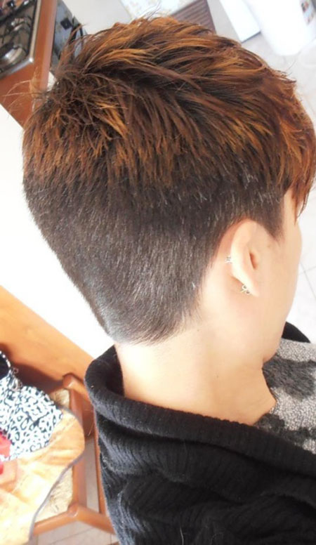 Short Hairstyle 208, Pixie, Woman, Under, Pixies