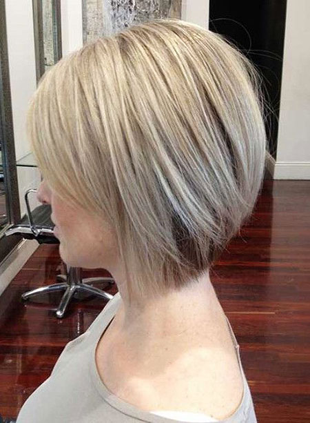 Straight Hair, Bob, Bobs, Layered, Blonde