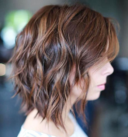 Brown Hair, Brown, Bob, Balayage, Highlights