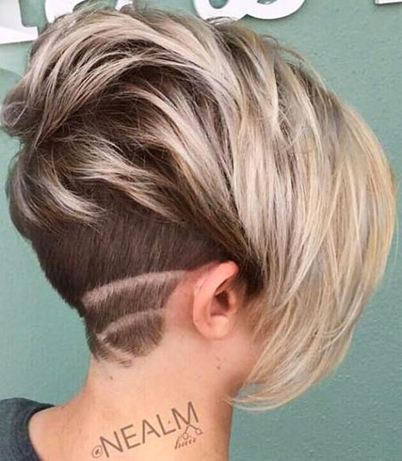 Undercut Designs, Pixie, Bob, Under, Blonde