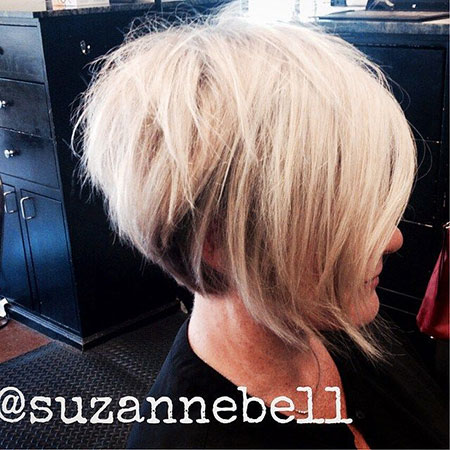 Inverted Hair, Bob, Blonde, Pixie, Fine