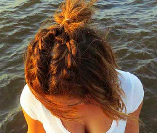 Cute Buns for Short Hair-15