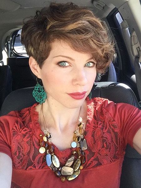 Textured Hair, Pixie, Curly, Type, Textured