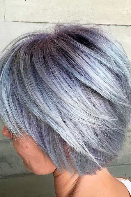 Gray Hair, Bob, Women, Trendy, Some