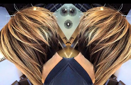 Cute Hair, Line, Highlights, Bob, Blonde