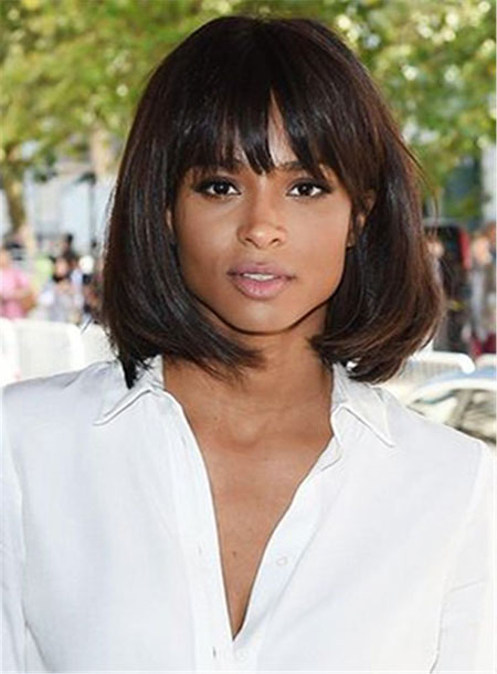 Ciara Hair, Medium, Bangs, Length, Full