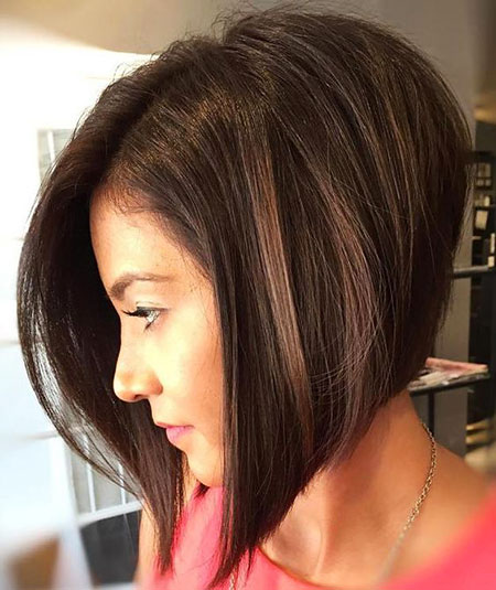 Thick Hair, Bob, Thick, Side, Parted