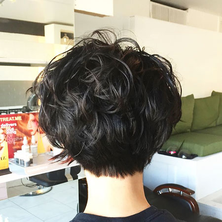 Back View, Pixie, Curly, Bob, Updo