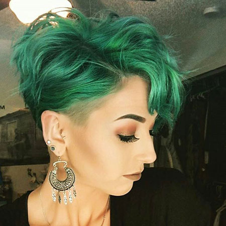 Green Hair, Pixie, Under, Trends, Tips