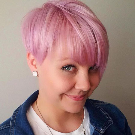 Pink Hair, Pixie, Pink, Bangs, Tone