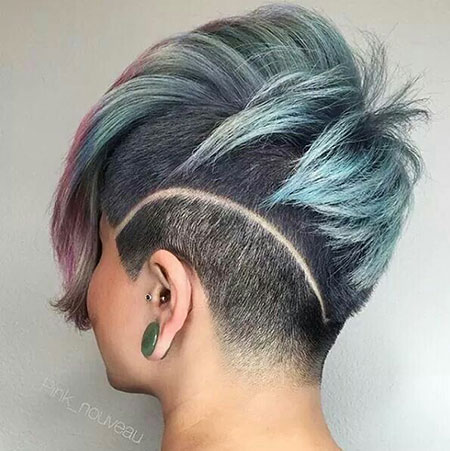 Side View, Shaved, Pixie, Under, Sides