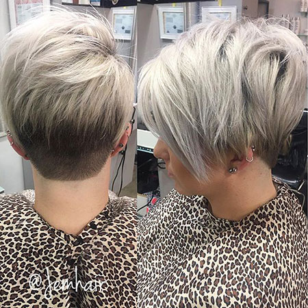 Silver Hair, Pixie, Under, Silver, Pixies