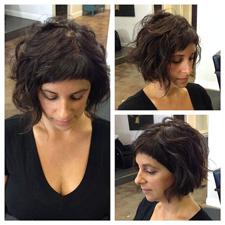 Textured Hair, Pixie, Bangs, Wavy, Textured