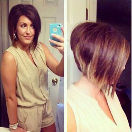 Casual Hair, Bob, Stacked, Bobs, Back