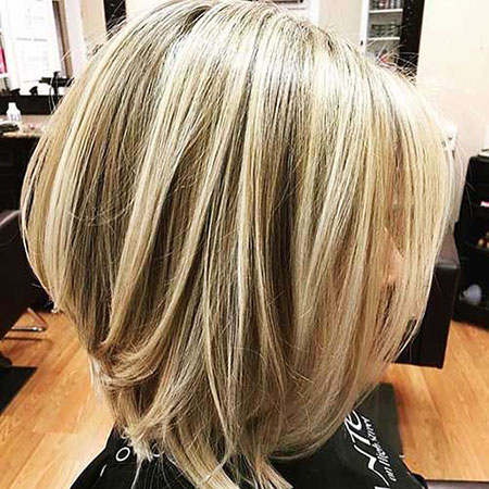 Inverted Bob, Bob, Blonde, Inverted, Highlights