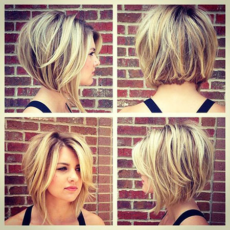 Stacked Wavy Hair, Bob, 207, Wavy, Stacked