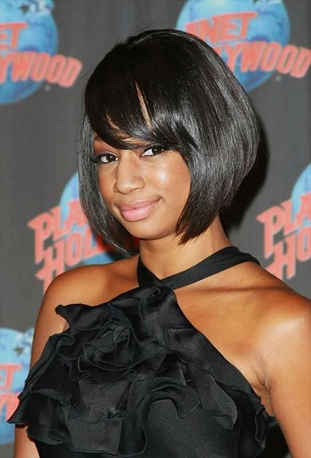 Prom Hair, Bob, Black, Women, Bangs