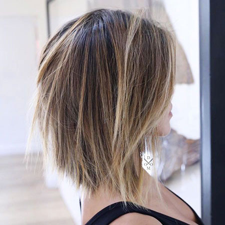 Short Hair, Bob, Balayage, Textured, Choppy