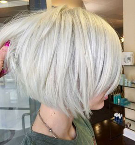 Modern Hair, Blonde, Bob, Layered, Trendy