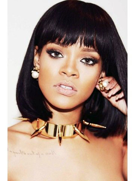Rihanna Hair, Rihanna, Bob, Black, Women