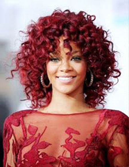 Red Hair, Curly, Red, Rihanna, Naturally