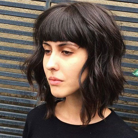 Textured Hair, Bangs, Krysten, Bob, Textured