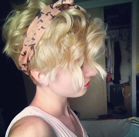 Blonde Hair, Pixie, Curly, Pixies, Pink