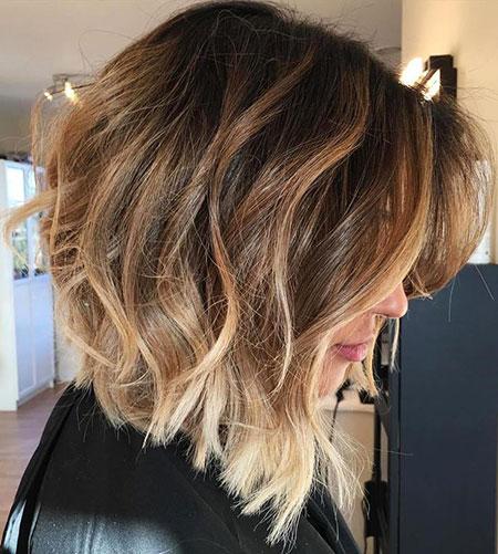 Brown Hair, Balayage, Bob, Long, Brown