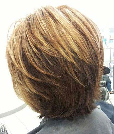 Stacked Hair, Bob, Layered, Stacked, Highlights