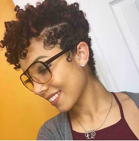 Cute Hair, Curly, Black, Women, Natural