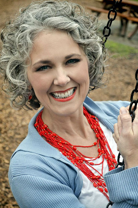 Grey Hair, Grey, Curly, Women, Older