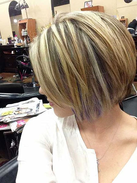 Short Hair, Bob, Highlights, Blonde, Women