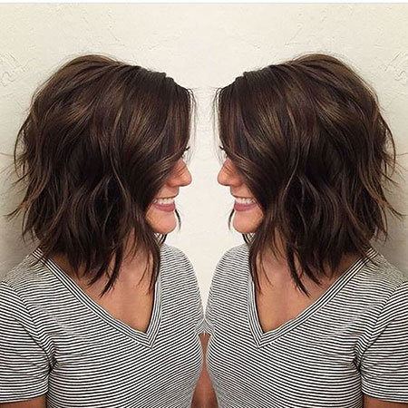 Cute Layered Hair, Layered, Bob, Highlights, Women