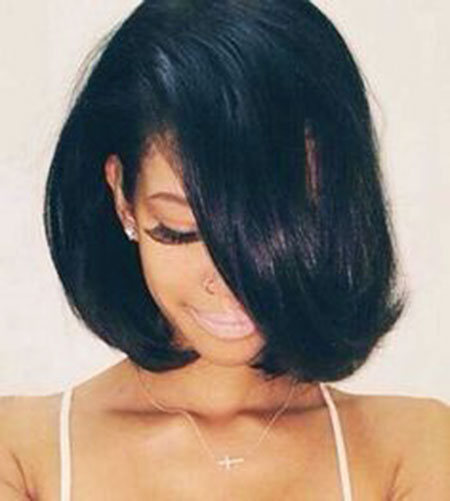 Summer Short Hair, Bob, Women, Curly, Black