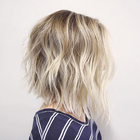 Cute Hair, Blonde, Shaggy, Bob, Balayage