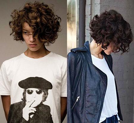 Short Hair, Curly, Bob, 207, Should